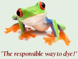 Greener Dyes Logo - Frog